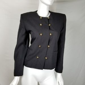 SuitsMe Military Style Blazer Jacket Double Breast